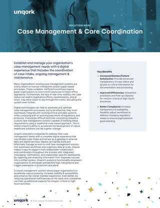 Solution Brief: Case Management & Care Coordination for Payers
