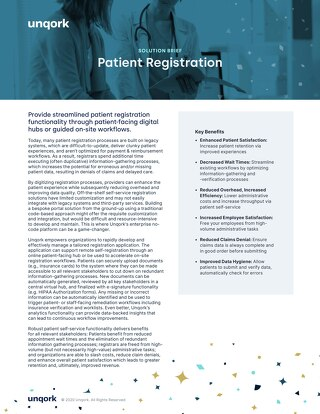 Solution Brief: Patient Registration for Providers