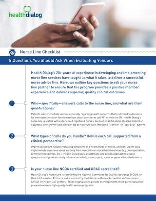 Nurse Line Checklist