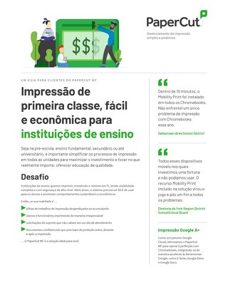 Papercut Education K-12 Brazil