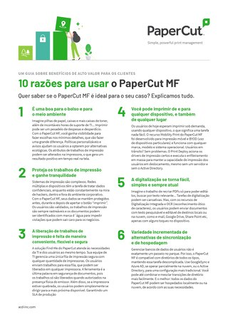 PaperCut MF Top10 Brazil