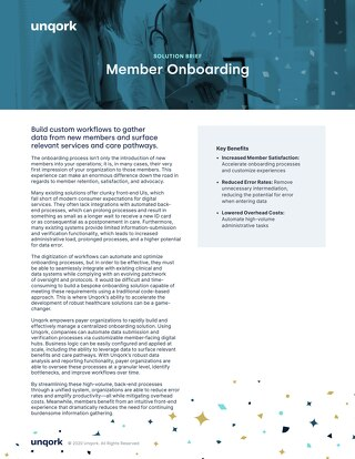 Solution Brief: Member Onboarding for Healthcare Payers