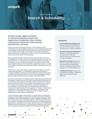 Solution Brief: Search & Scheduling for Healthcare Payers