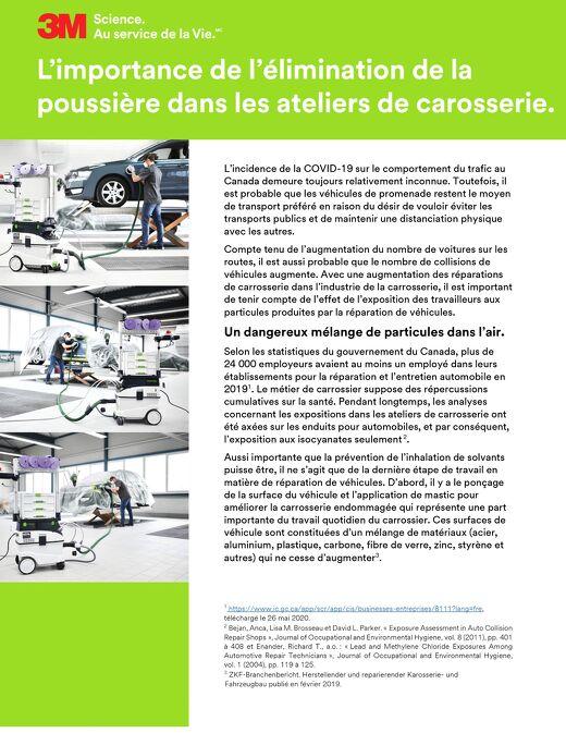 L'importance de l'élimination de la poussière dans les ateliers de carrosserie.