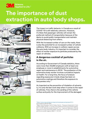 The importance of dust extraction in auto body shops.
