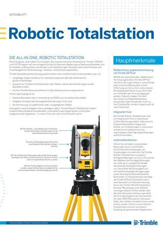 Trimble SPSX20 Robotic Total Station Datasheet -German