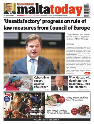 MaltaToday 9 December 2020 MIDWEEK new