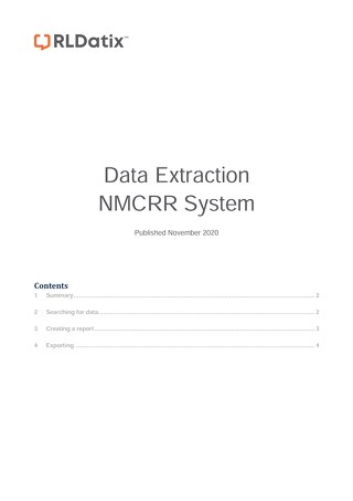 NMCRR Data Extraction