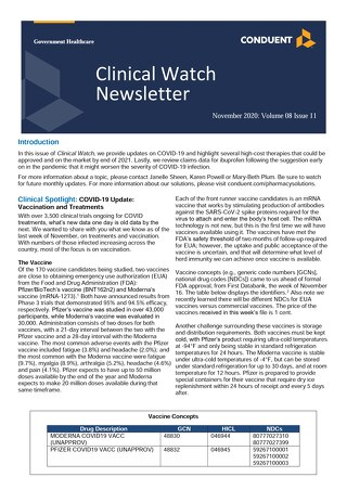 November 2020 Clinical Watch Newsletter