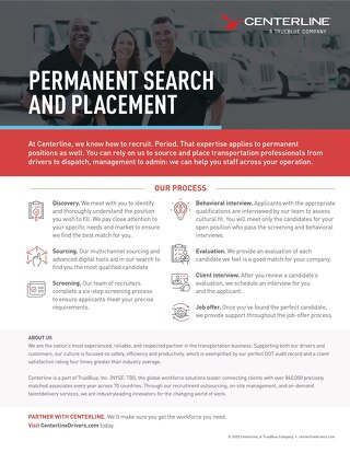 Permanent Search & Placement Info Sheet