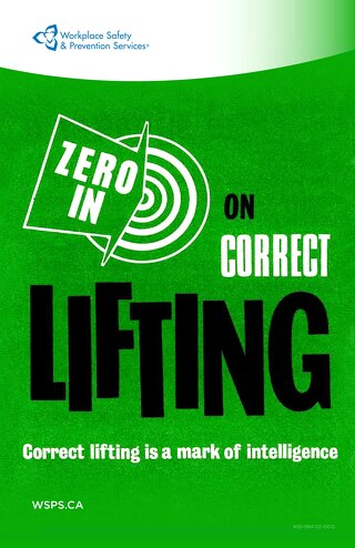Zero in on Correct Lifting. Correct lifting is a mark of intelligence - poster