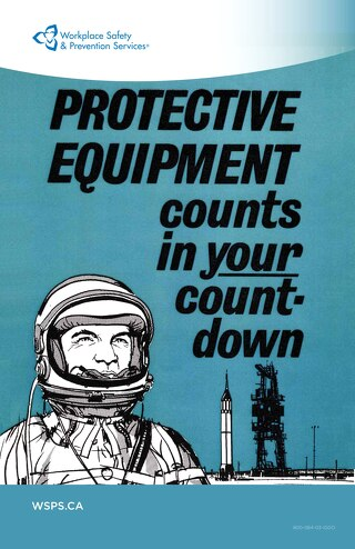 Protective Equipment counts in your countdown - poster