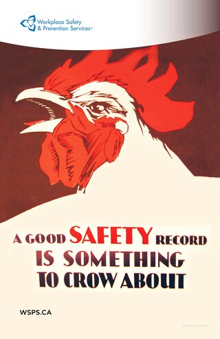 A good Safety Record is something to crow about - poster