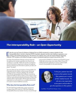 The Interoperability Rule – an Open Opportunity