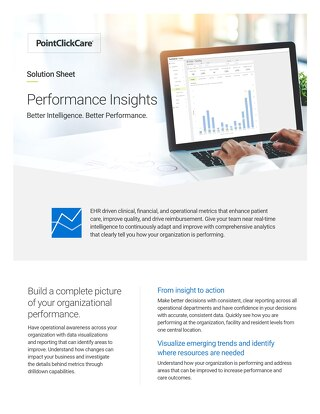Performance Insights Solution Sheet