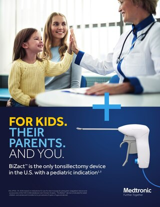 The only tonsillectomy device in the U.S. with a pediatric indication 1