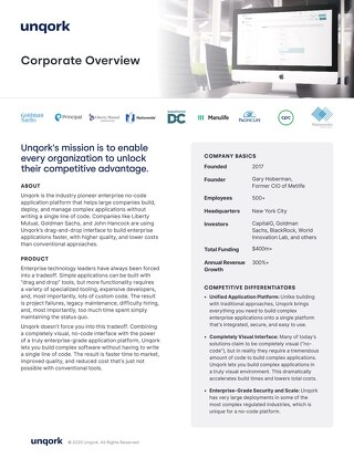 Unqork Corporate Overview