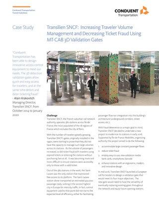 Transilien SNCF: Increasing traveler volume management and decreasing ticket fraud using MT-CAB 3D Validation Gates
