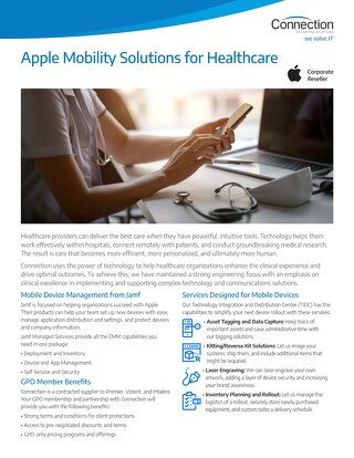Apple Mobility Solutions for Healthcare