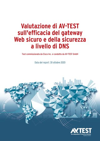 AV-TEST valuta l'efficacia dei gateway Web sicuri e della sicurezza a livello DNS