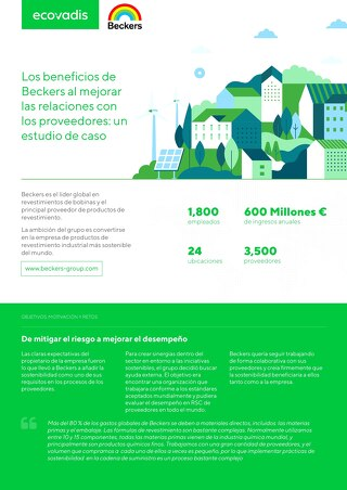 Los beneficios de Beckers al mejorar las relaciones con los proveedores: un estudio de caso