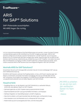 ARIS for SAP® Solutions