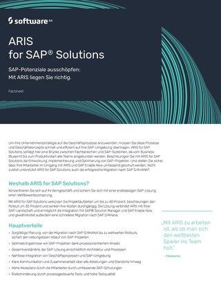 ARIS for SAP® Solutions