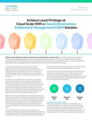 Blog: Achieve Least Privilege at  Cloud Scale