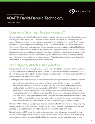 ADAPT Rapid Rebuild Technology from Seagate