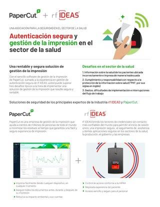 PaperCut Healthcare Solutions rfIDEAS en Español