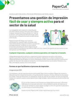 PaperCut Healthcare Ease of Use en Español