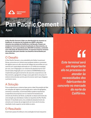 Estudo de caso - Pan Pacific Cement