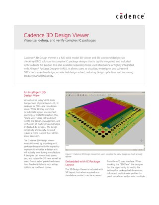 Cadence 3D Design Viewer