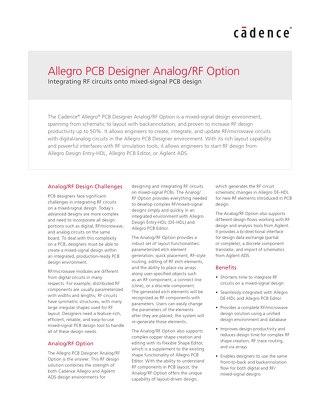 Allegro PCB RF