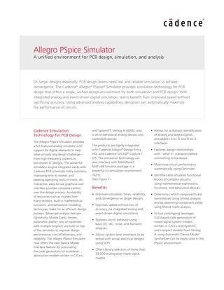 Allegro PSpice Simulator