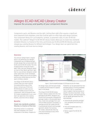 Allegro Ecad Mcad Library Creator