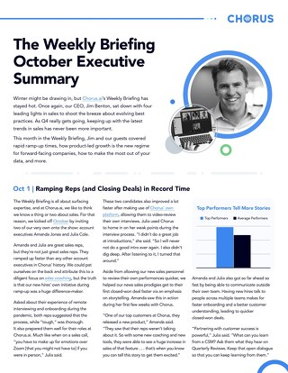 October Executive Summary - The Weekly Briefing