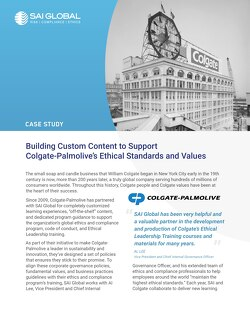 Case study: Colgate-Palmolive and SAI360's Ethics and Compliance Learning