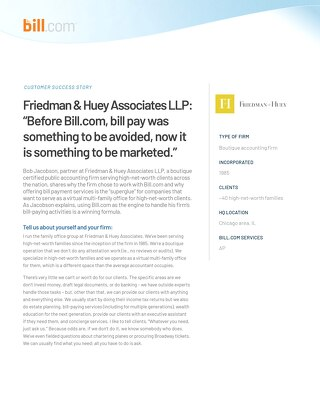 Case Study: Friedman+Huey