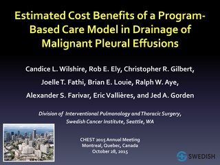 2015 CHEST (Montreal); Wilshire, Cost Benefits of Pleural Program