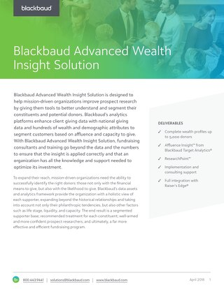 Advanced Wealth Insights Datasheet