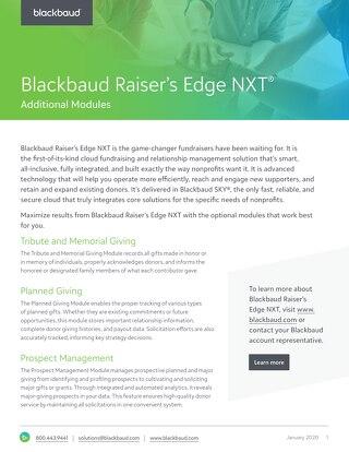 Raiser's Edge NXT Modules