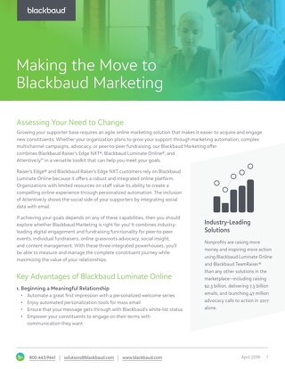 Migrating to Blackbaud Marketing Datasheet