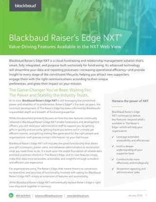 Raiser's Edge NXT Web View Features Datasheet (1)