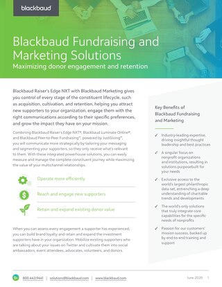 Raiser's Edge NXT with Blackbaud Marketing