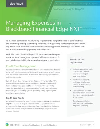 Expense Management in Financial Edge NXT