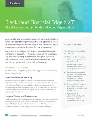 Financial Edge NXT for Grant Funded Organizations