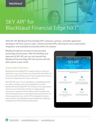 SKY API for Blackbaud Financial Edge NXT