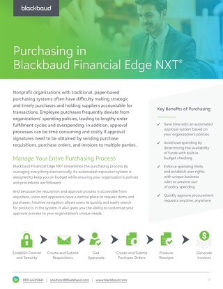 Purchasing in Blackbaud Financial Edge NXT