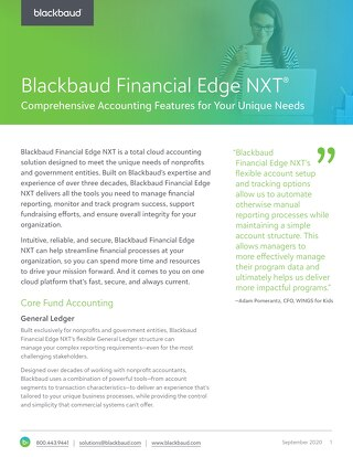 Financial Edge NXT Features